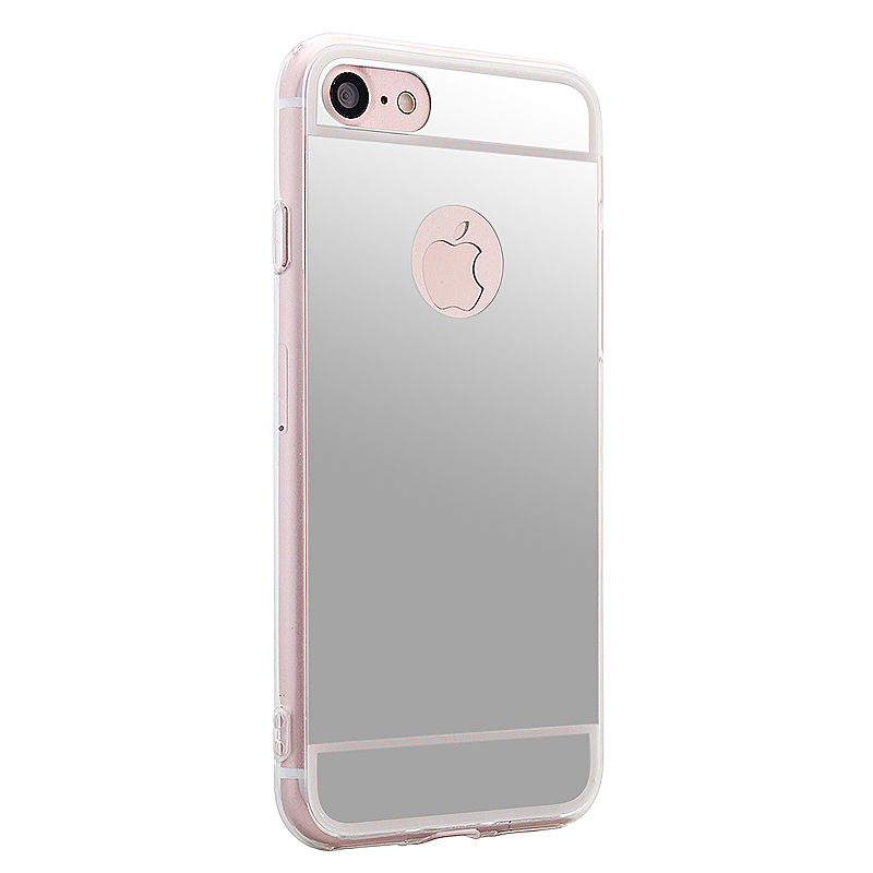 Mirror Soft TPU Cover Back Phone Case for iPhone 6 / 6S 4.7 inch - Silver