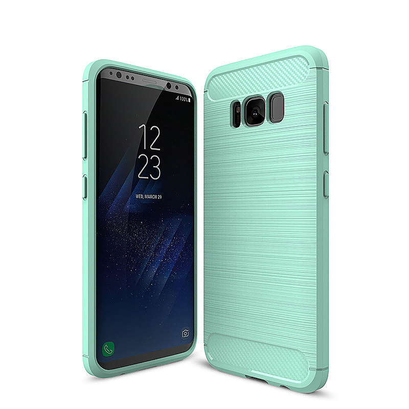 Shockproof Soft TPU Case Phone Cover for Samsung Galaxy S8 Plus - Green