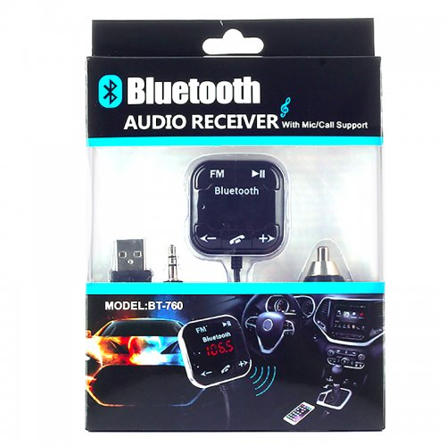 Wireless Bluetooth Magnetic FM Transmitter Audio Receiver MP3 Player
