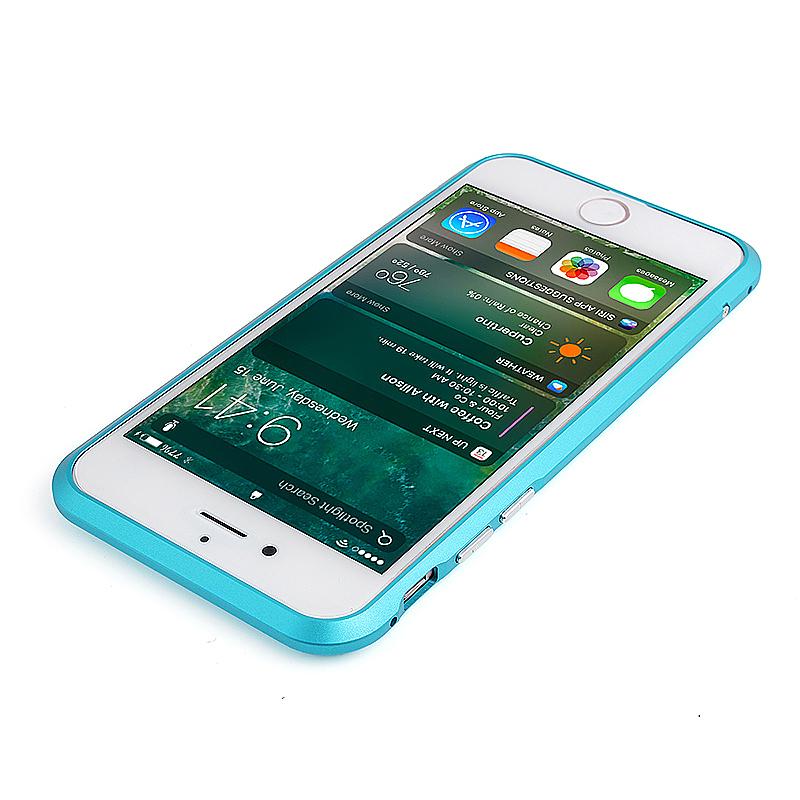 Slim Shockproof Aluminum Metal Bumper Frame Case for iPhone 6 6S Plus - Blue