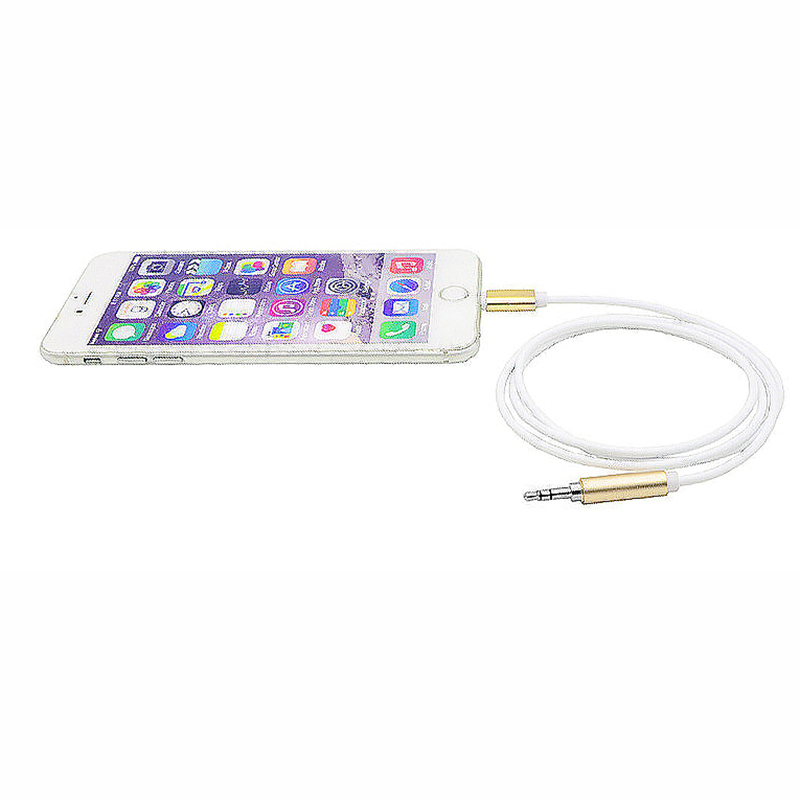8 Pin to 3.5mm Male Jack AUX Audio Stereo Adapter Cable Compatible with Latest iOS 12.1.4 - Gold