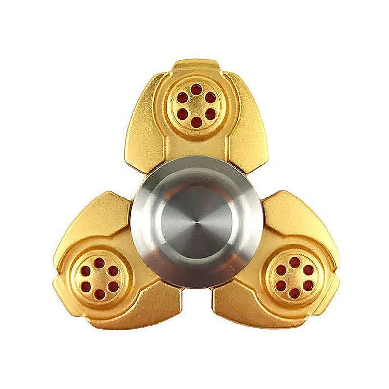 EDC Metal Tri Fidget Spinner Finger Gyroscope Focus Toy for Kids Adults - Gold