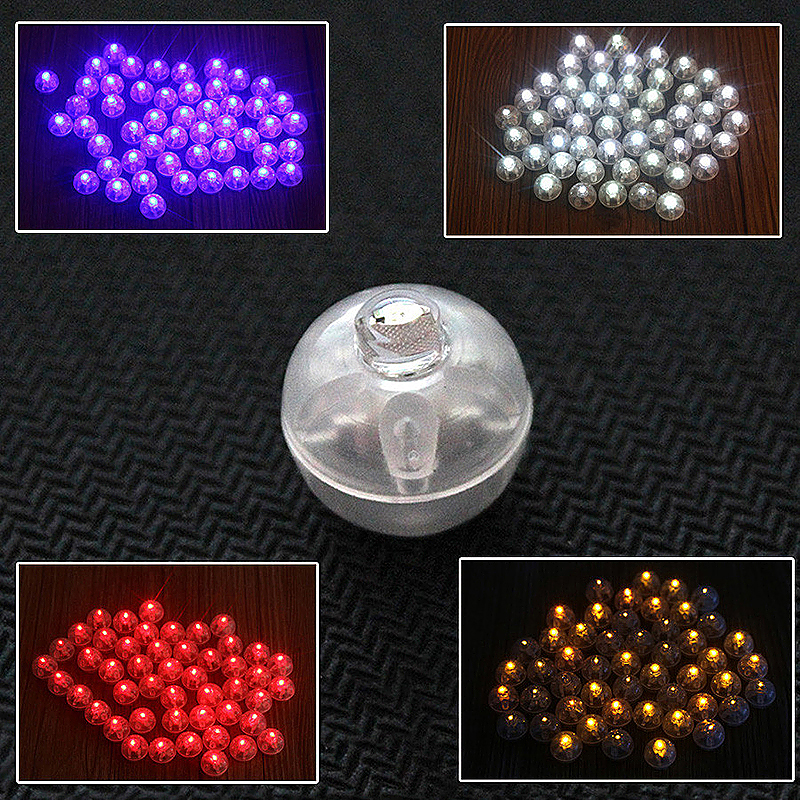 100pcs LED Light Ball Ballon Colorful Lamp Decoration for Party