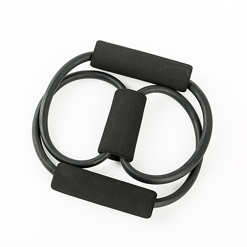 25 Pounds Exercise Resistance Band Gym Strength Weight Yoga Training Bands - Black