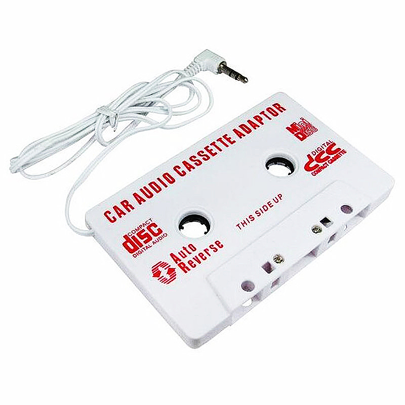 Car Audio 3.5mm Stereo Cassette Adapter for MP3 MP4 Audio Player - White