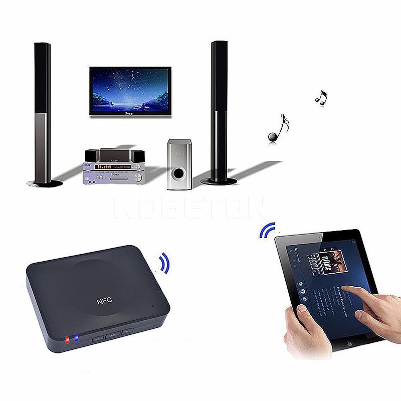 NFC Bluetooth Wireless Audio Receiver HIFI Speaker Adapter - Black