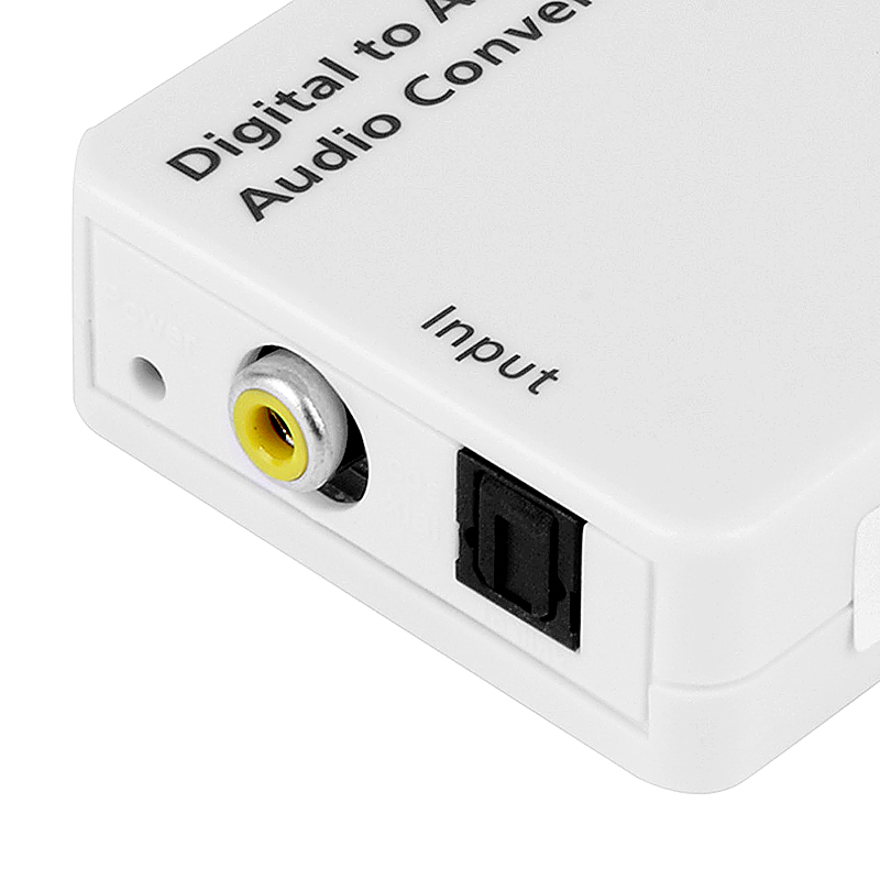 Digital Optical Audio Signal Converter Adapter with USB Cable Fiber Cable