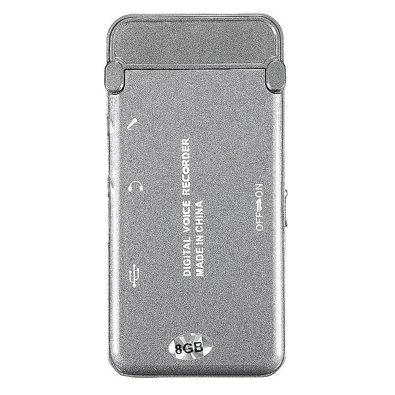 Rechargeable 8G USB Voice Recorder Digital Audio Dictaphone Mp3 Mini Player