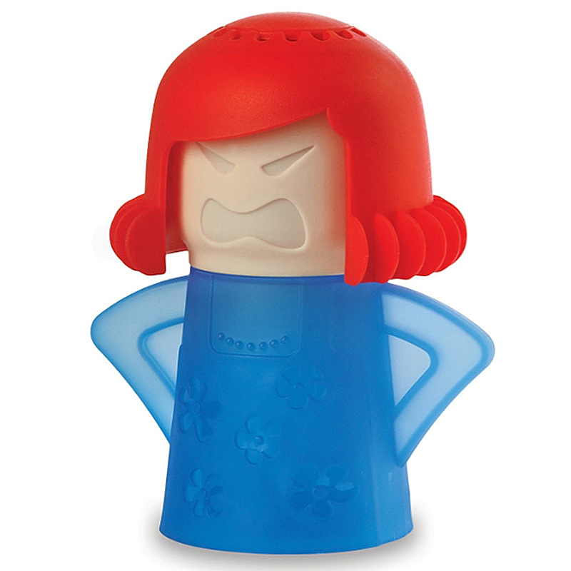 Angry Mama Cartoon Microwave Oven Steam Cleaner Steam Clean Tool - Blue