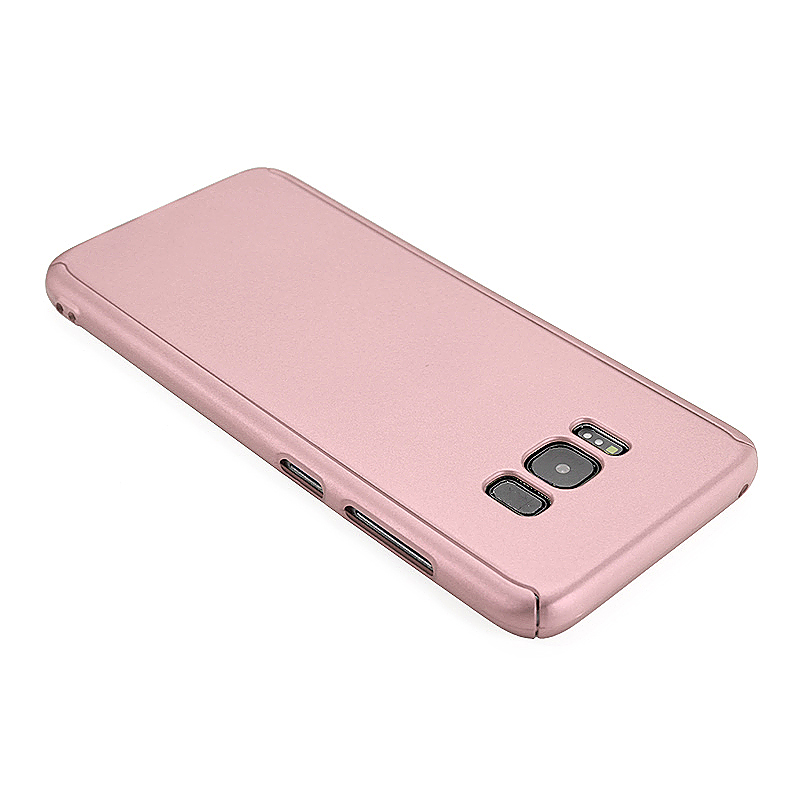 360 Full Coverage Hard PC Phone Case Front + Back Cover Shell for Samsung S8 Plus - Rose Gold