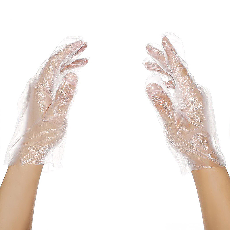 100pcs Plastic Disposable Gloves Powder Free Mechanic Catering Food