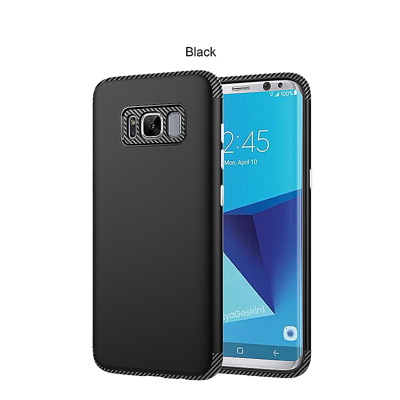 2 in 1 Hybrid TPU + PC Phone Cover Anti-Scratch Protective Case for Samsung S8 Plus - Black