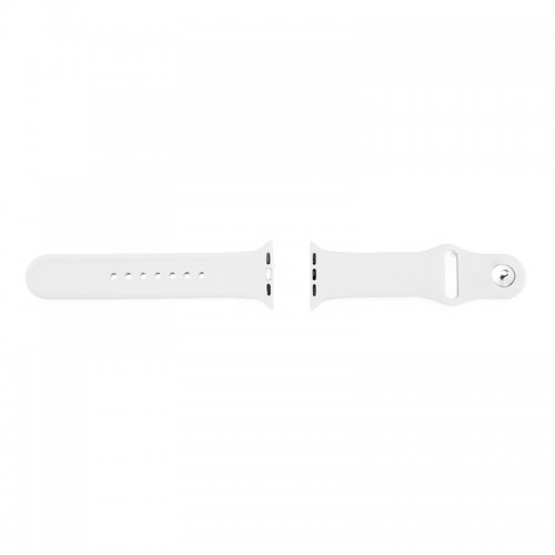 Soft Sillicone Rubber Watchband for Apple iWatch 42mm - White