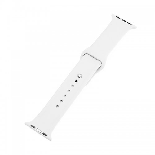 Soft Sillicone Rubber Watchband for Apple iWatch 38mm - White