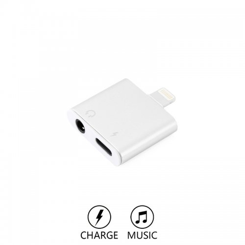 2 In 1 Lightning To 3 5mm Audio Headphone Charge Cable Adapter