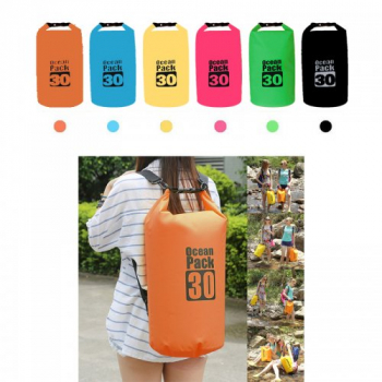 30L Waterproof Dry Bag Outdoor Sport Swimming Rafting Carry Bag - Orange