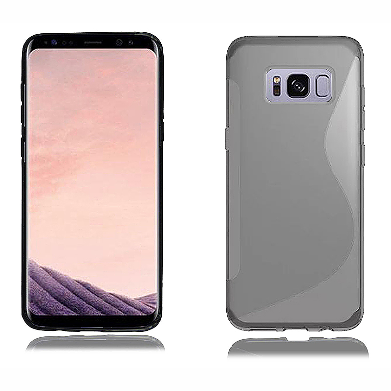 Samsung Galaxy Muliti Color TPU Protective Shockproof Back Phone Cover for S8 Plus - Gray