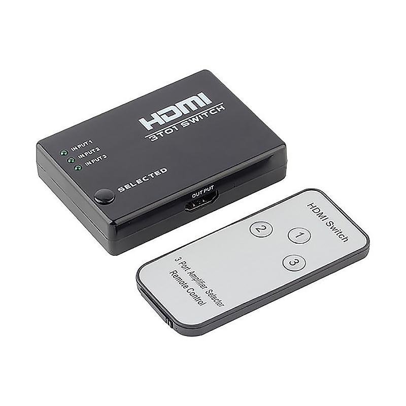 3 Port in 1 HDMI Switcher Splitter 1080P Video Adapter for HDTV PS3 DVD