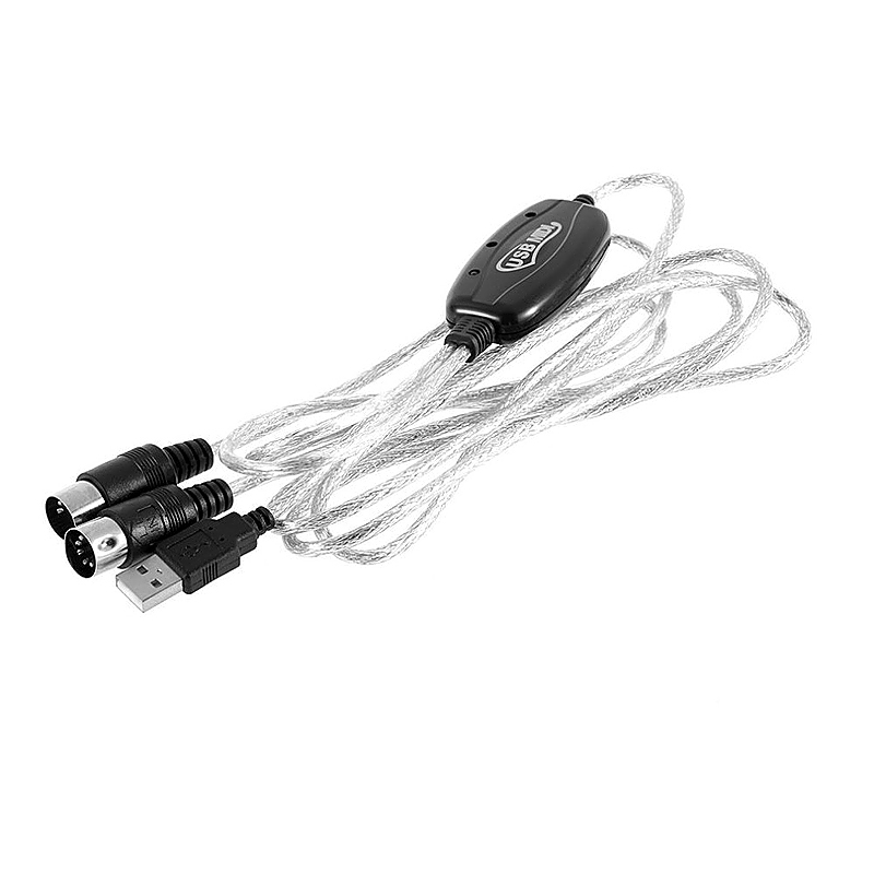 2M Keyboard to PC USB MIDI Cable Converter USB MIDI Interface Cable