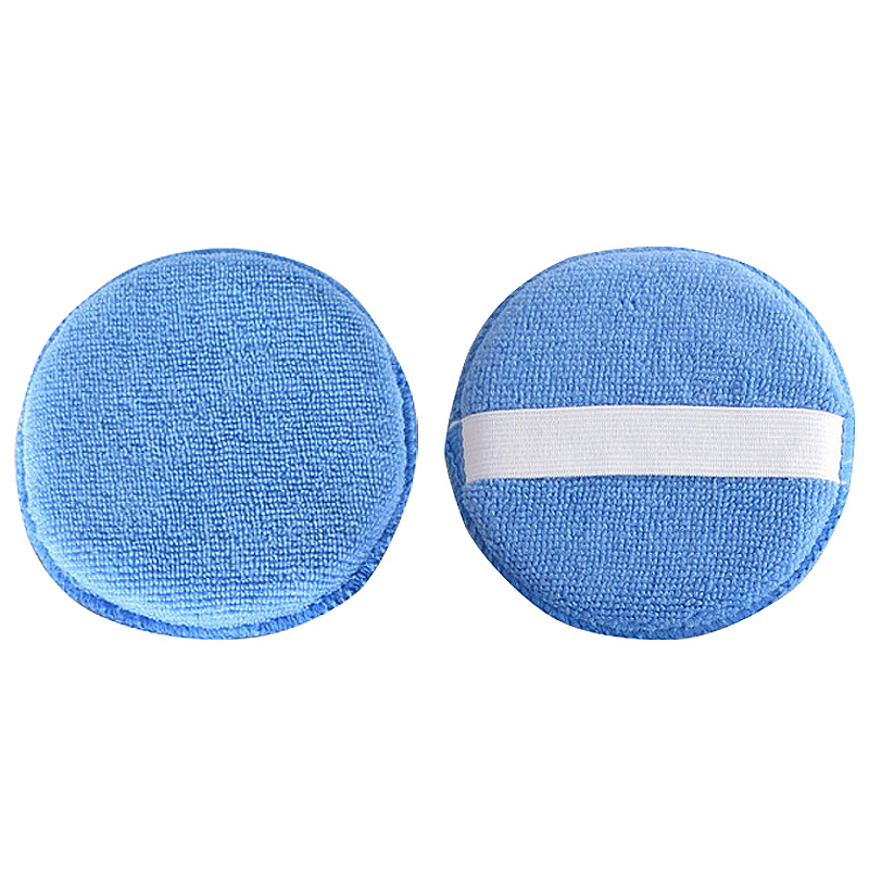 Foam Sponge Polish Wax Cleaner Applicator Pads with Handle for Car Home Cleaning