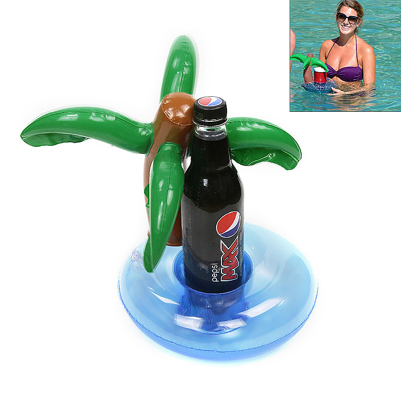 Float Cup Holders Pool Swimming Floating Inflatable Drink Beverage Cup Holders Toys - Coconut Tree