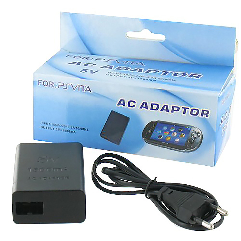 PS Vita AC Adapter EU Plug Charger With USB Charge Cable for Playstation Vita PSV