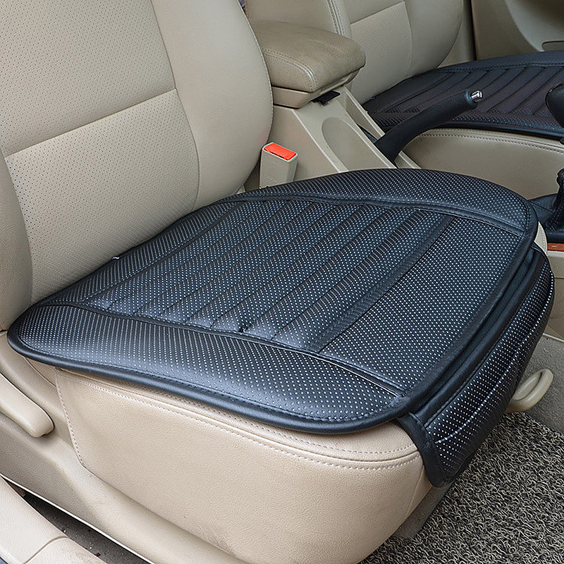 General Four Seasons Car Seat Cushion Bamboo Charcoal Infill Car Seat Covers - Black