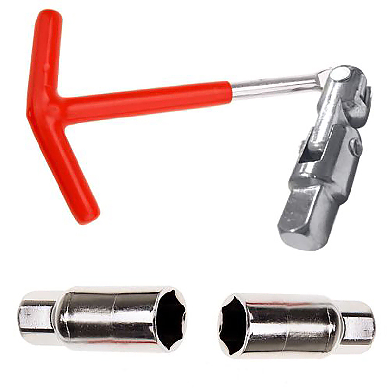 Spark Plug Removal Tool 16mm - 21mm T-Handle Bar Flexible Spanner Socket