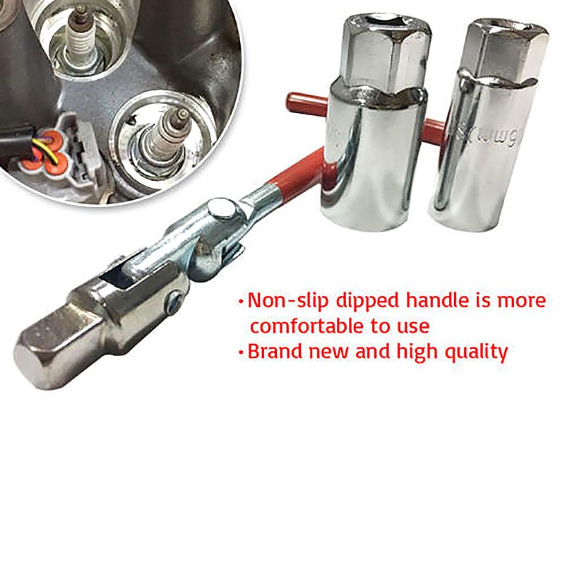 Spark Plug Removal Tool 16mm - 21mm T-Handle Bar Flexible Spanner Socket