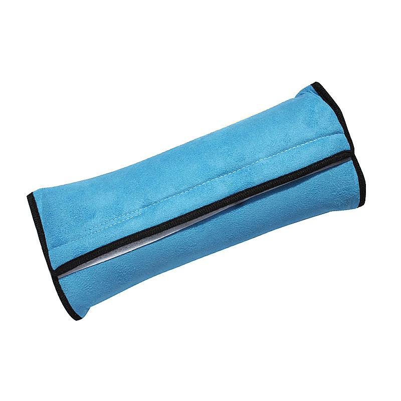 Children Car Seat Belt Shoulder Cushion Pad Sleep Pillow Head Neck Protector for Child Kids - Blue