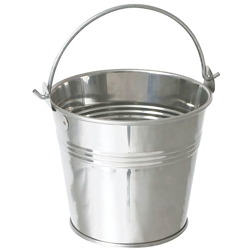Steel Tin French Fries Serving Buckets Food Presentation Container Display Plants Pot