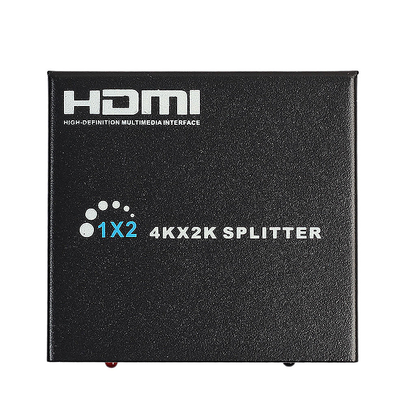 Ultra HD 4K 1 In 2 Out HDMI Splitter Repeater Amplifier 3D 1080P Hub - Black