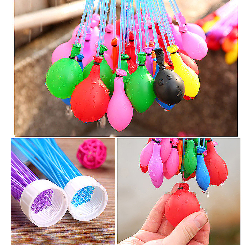 111 Fast Fill Magic Water Balloons Self Tying Bunch O Balloon Bombs Summer Toys Assorted Colour