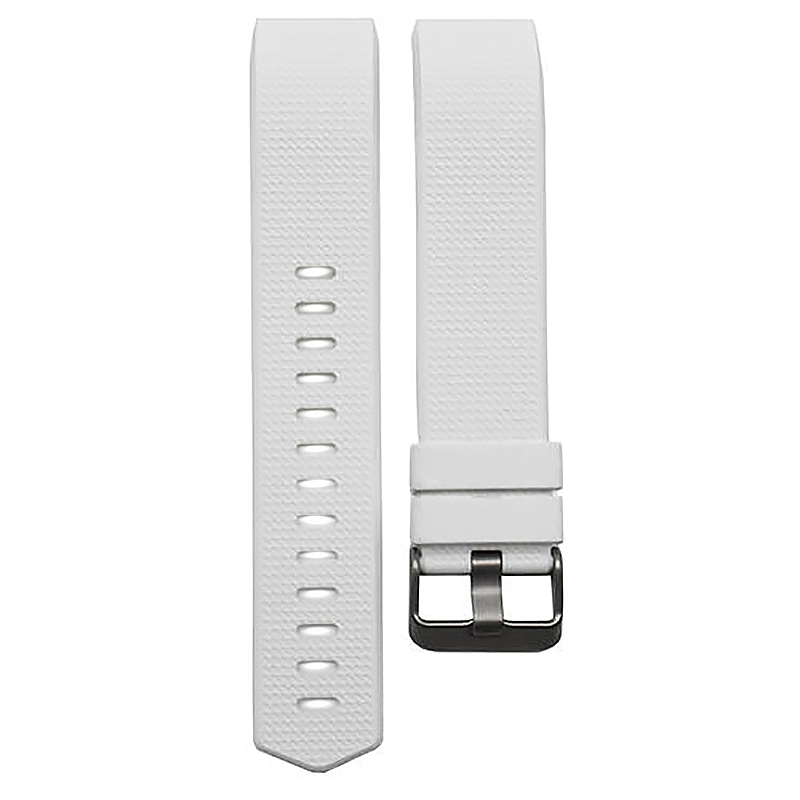 Fitbit Charge 2 Strap Band Silicone Relacement Wristband Smart Watch Bracelet Size L - White