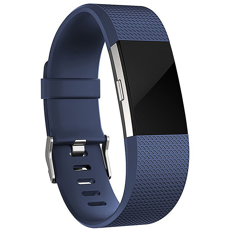 Fitbit Charge 2 Strap Band Silicone Relacement Wristband Smart Watch Bracelet Size L - Dark Blue