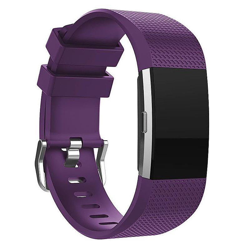 Fitbit Charge 2 Strap Band Silicone Relacement Wristband Smart Watch Bracelet Size L - Purple