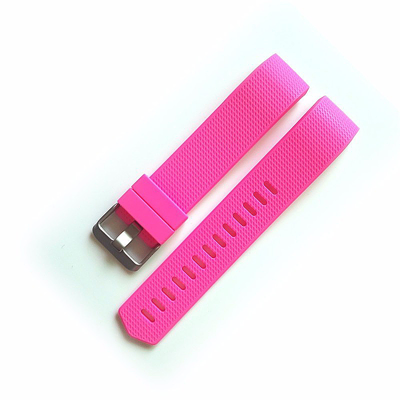 Fitbit Charge 2 Strap Band Silicone Relacement Wristband Smart Watch Bracelet Size L - Rose Red