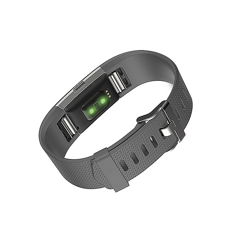 Soft Silicone Replacement Band Bracelet Fitness Smart Wristband for Fitbit Charge 2 Size S - Gray