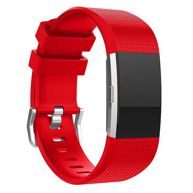 Soft Silicone Replacement Band Bracelet Fitness Smart Wristband for Fitbit Charge 2 Size S - Red