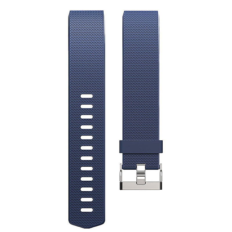 Soft Silicone Replacement Band Bracelet Fitness Smart Wristband for Fitbit Charge 2 Size S - Dark Blue
