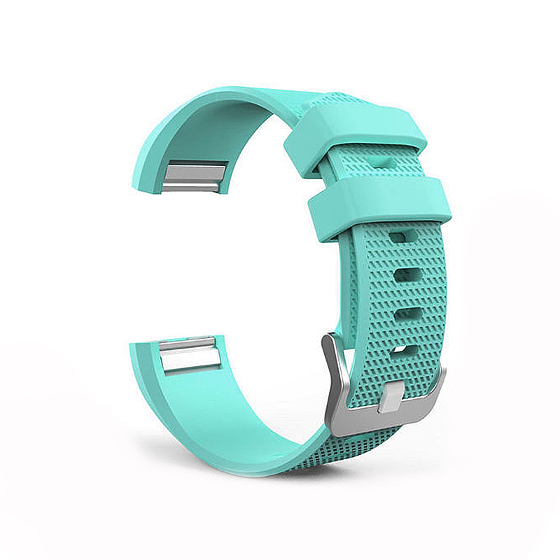 Soft Silicone Replacement Band Bracelet Fitness Smart Wristband for Fitbit Charge 2 Size S - Green