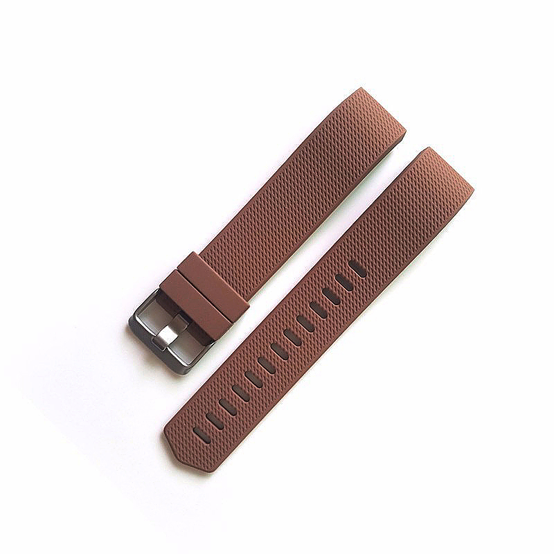 Soft Silicone Replacement Band Bracelet Fitness Smart Wristband for Fitbit Charge 2 Size S - Brown