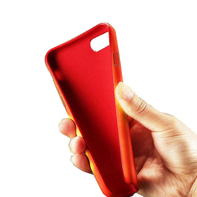 Thermal Heat Discoloration Induction Phone Case TPU Back Cover for iPhone6/6s - Red