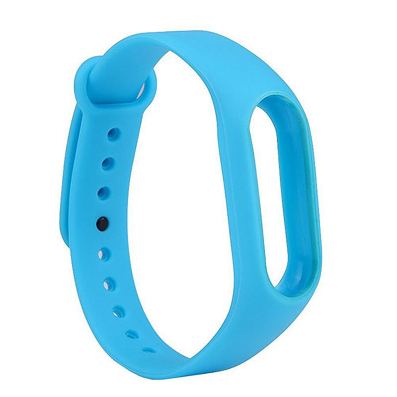 Replacement Silicone Wrist Strap Wristband Bracelet for Xiaomi Mi Smartband 2 - Blue