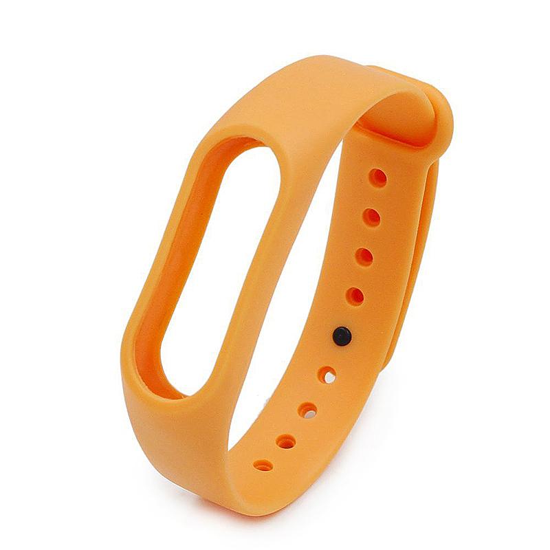 Replacement Silicone Wrist Strap Wristband Bracelet for Xiaomi Mi Smartband 2 - Orange