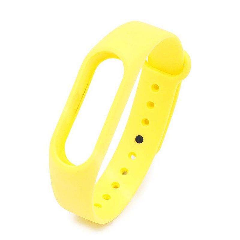 Replacement Silicone Wrist Strap Wristband Bracelet for Xiaomi Mi Smartband 2 - Yellow