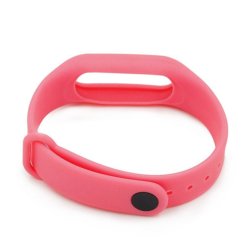 Replacement Silicone Wrist Strap Wristband Bracelet for Xiaomi Mi Smartband 2 - Pink