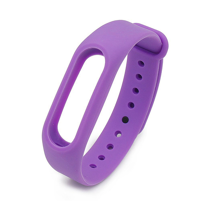 Replacement Silicone Wrist Strap Wristband Bracelet for Xiaomi Mi Smartband 2 - Purple
