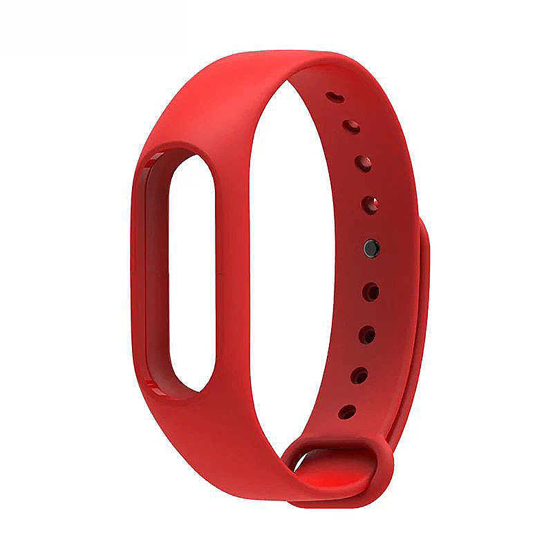 Replacement Silicone Wrist Strap Wristband Bracelet for Xiaomi Mi Smartband 2 - Red