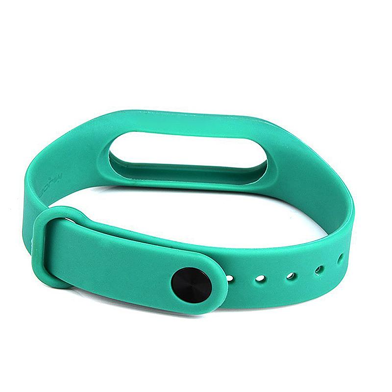 Replacement Silicone Wrist Strap Wristband Bracelet for Xiaomi Mi Smartband 2 - Green